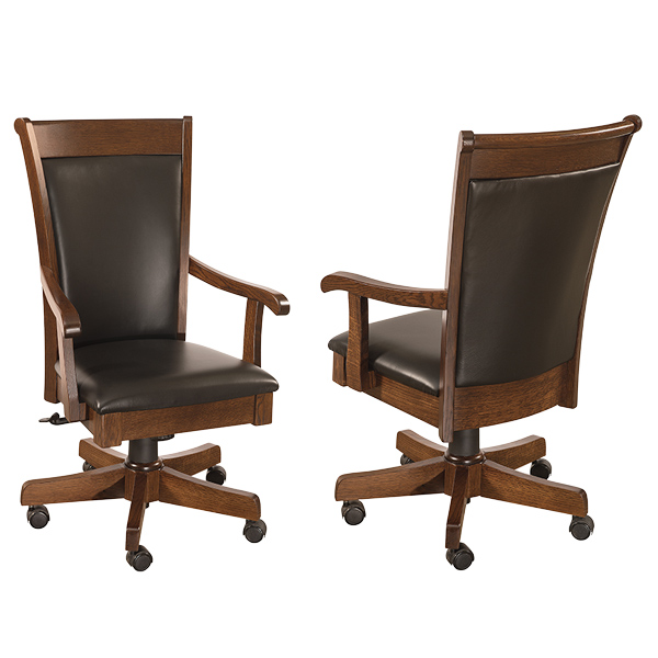 Amish Ainsworth Desk Chair | Amish Furniture | Shipshewana Furniture Co.