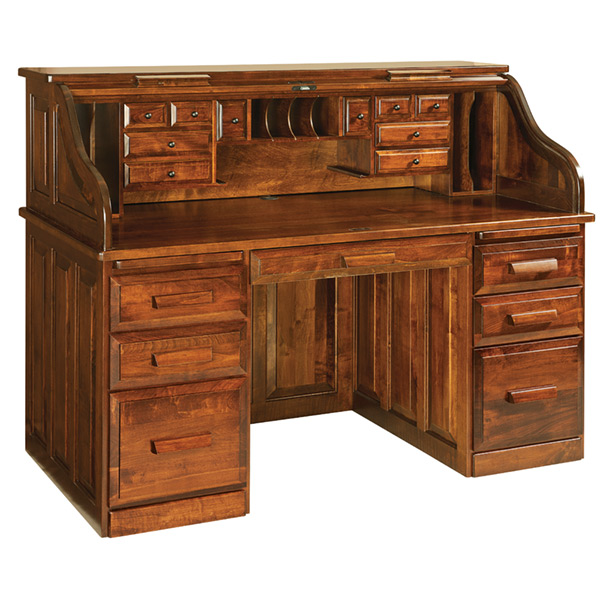 Amish Classic Rolltop Desk | Amish Furniture | Shipshewana Furniture Co.