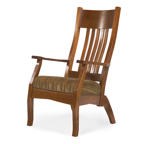 Amish Captain Mission Lounge Chair | Amish Furniture | Shipshewana Furniture Co.