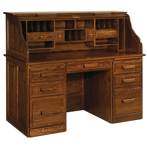 Amish Classic Farmers Rolltop Desk | Amish Furniture | Shipshewana Furniture Co.