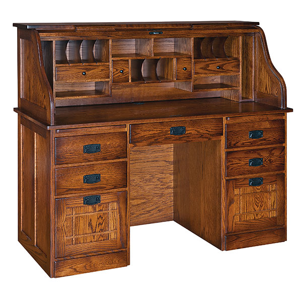 Amish Mission Farmers Rolltop Desk | Amish Furniture | Shipshewana Furniture Co.