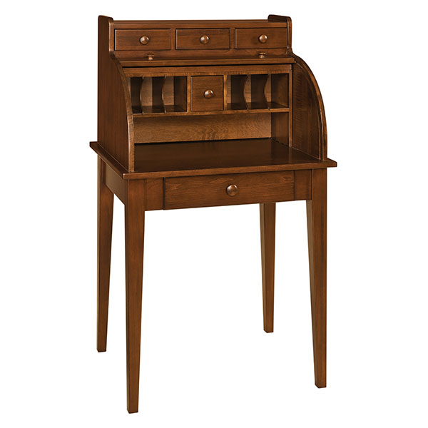 Amish Shaker Secretary Rolltop Desk | Amish Furniture | Shipshewana Furniture Co.