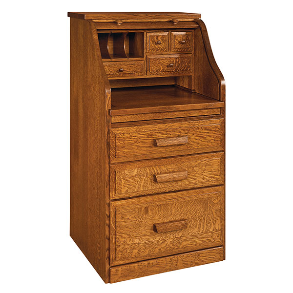 Amish College Student Rolltop Desk | Amish Furniture | Shipshewana Furniture Co.