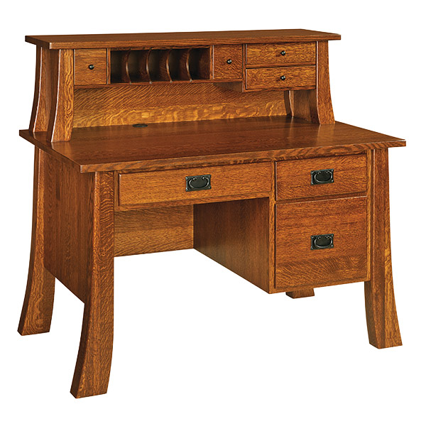 Amish Witmer Single Pedestal Desk | Amish Furniture | Shipshewana Furniture Co.