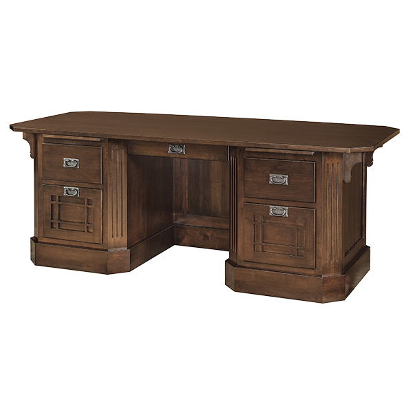 Amish Saturn Mission Executive Desk | Amish Furniture | Shipshewana Furniture Co.