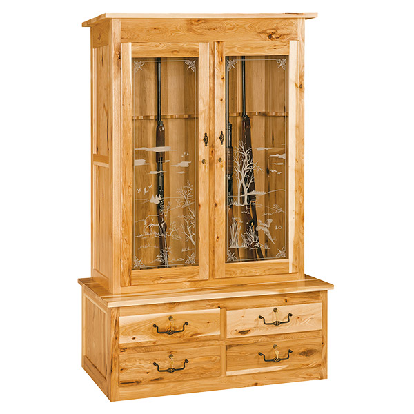 Gun Cabinet - Mission Double Door