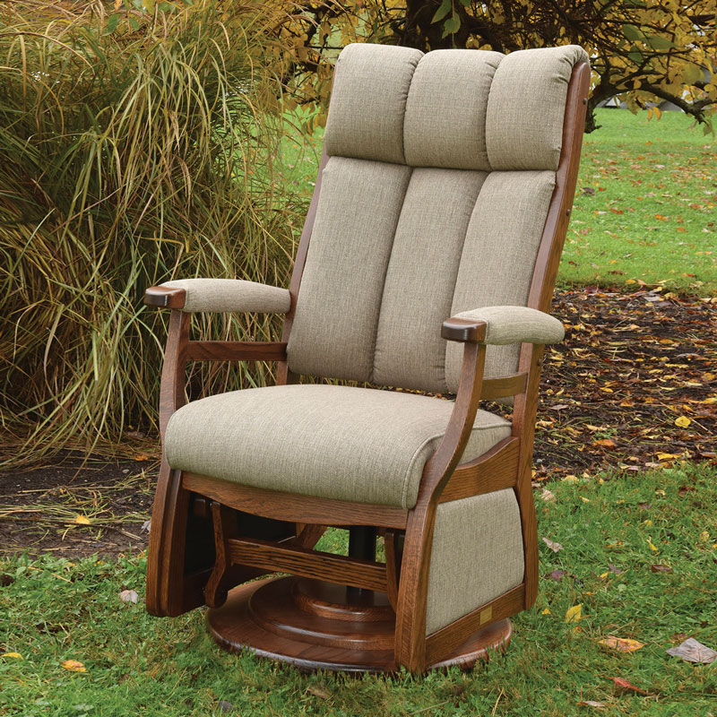 Paris High Back Swivel Glider