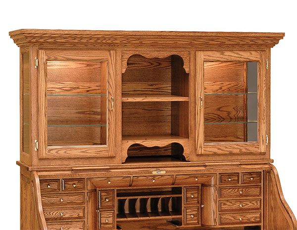 Amish Hutch for Rolltop Desks | Amish Furniture | Shipshewana Furniture Co.