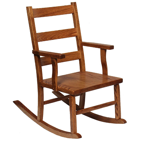 Amish Ladderback Youth Rocker | Amish Furniture | Shipshewana Furniture Co.