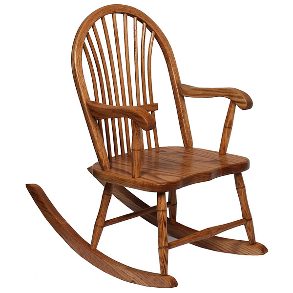Amish Sheaf Youth Rocker | Amish Furniture | Shipshewana Furniture Co.
