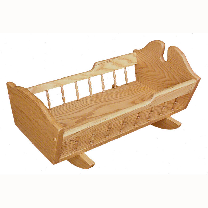 Doll Cradle with Spindles - Short
