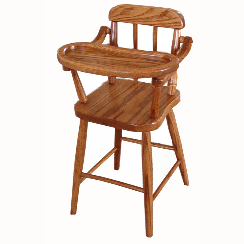 Doll Highchair with Spindles -Tall