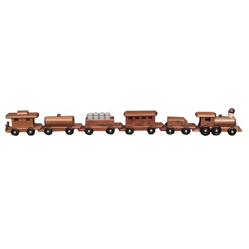 Medium Walnut Train