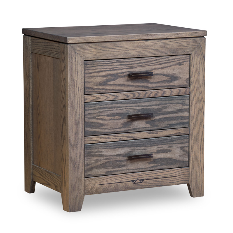 Adrian 3 Drawer Nightstand