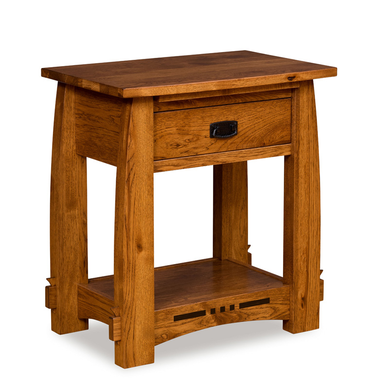 Amish Canyon 1 Drawer Open Nightstand | Amish Furniture | Shipshewana Furniture Co.
