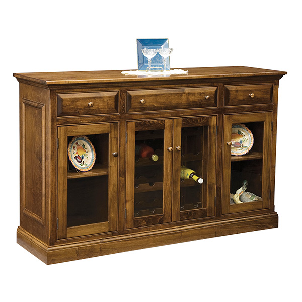 Amish Jasmine Wine Cabinet | Amish Furniture | Shipshewana Furniture Co.