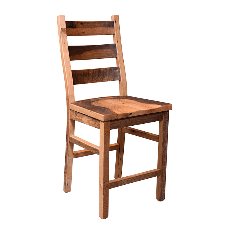 Ladder Back Stationary Barstool