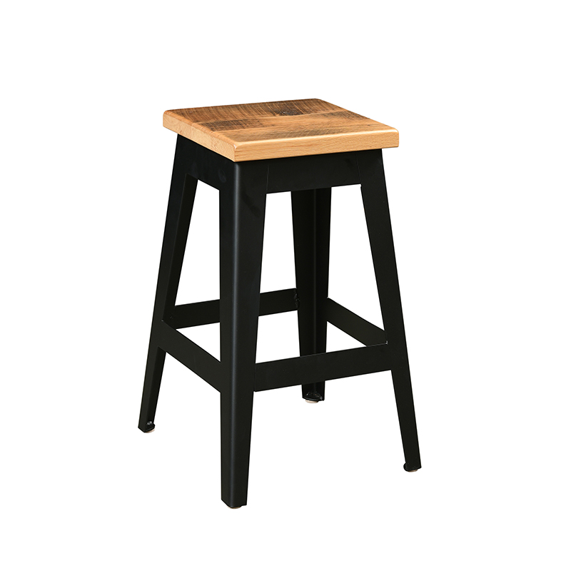 Newcastle Barnwood Barstool - Metal Base