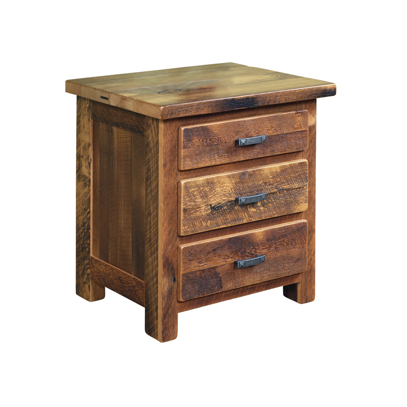 Urban Farmhouse 3 Drawer Nightstand