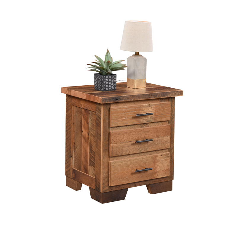 Chevron 3 Drawer Nightstand