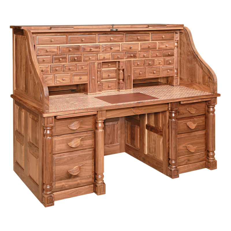 Amish Presidents Rolltop Desk | Amish Furniture | Shipshewana Furniture Co.