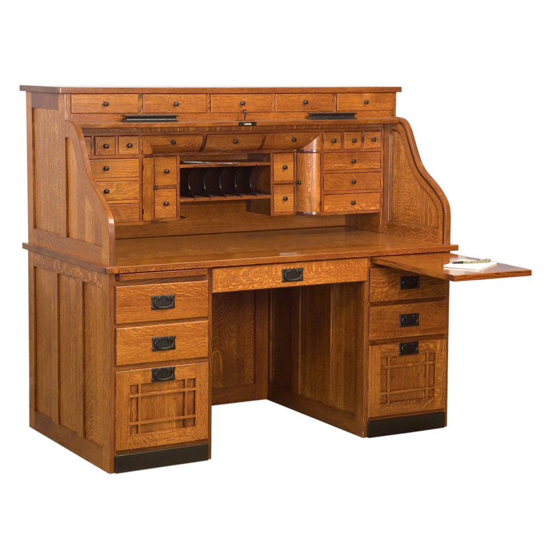 Amish Mission Deluxe Rolltop Desk | Amish Furniture | Shipshewana Furniture Co.