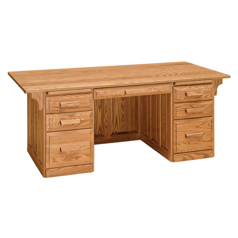 Amish Classic Executive Desk | Amish Furniture | Shipshewana Furniture Co.