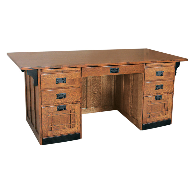 Amish Mission Executive Desk | Amish Furniture | Shipshewana Furniture Co.