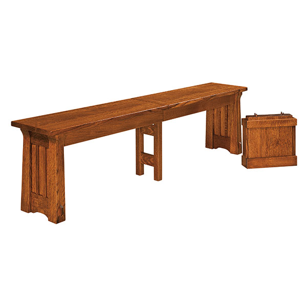 Amish Baker ExtendaBench | Amish Furniture | Shipshewana Furniture Co.