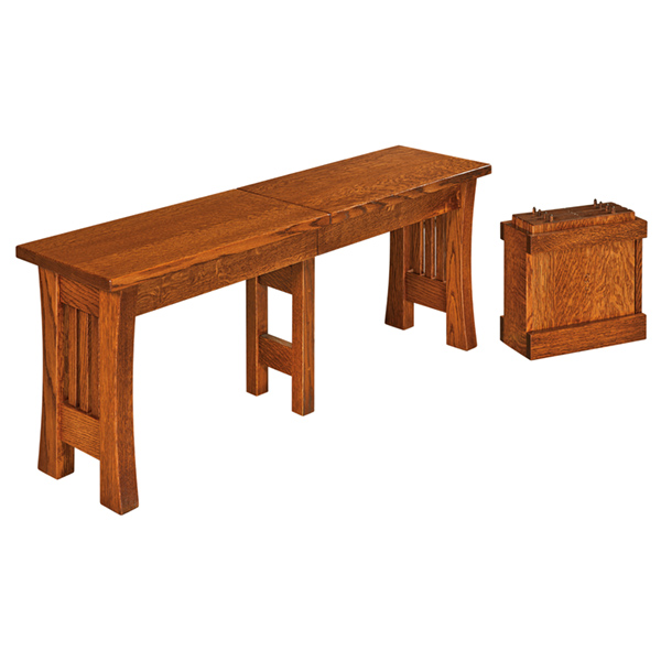 Amish Ashton Extend-a-Bench | Amish Furniture | Shipshewana Furniture Co.