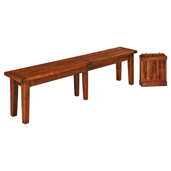 Amish Barlow Extend-a-Bench | Amish Furniture | Shipshewana Furniture Co.