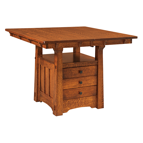 Amish Baker Cabinet Table | Amish Furniture | Shipshewana Furniture Co.