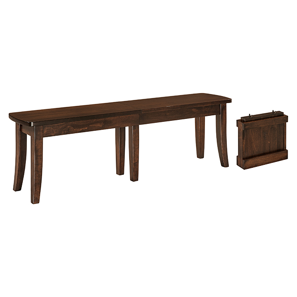 Amish Baldwin ExtendaBench | Amish Furniture | Shipshewana Furniture Co.