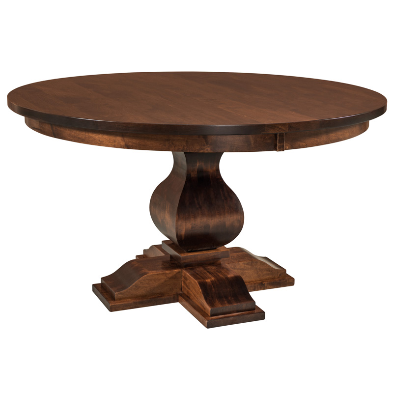 Amish Baxter Single Pedestal Table | Amish Furniture | Shipshewana Furniture Co.
