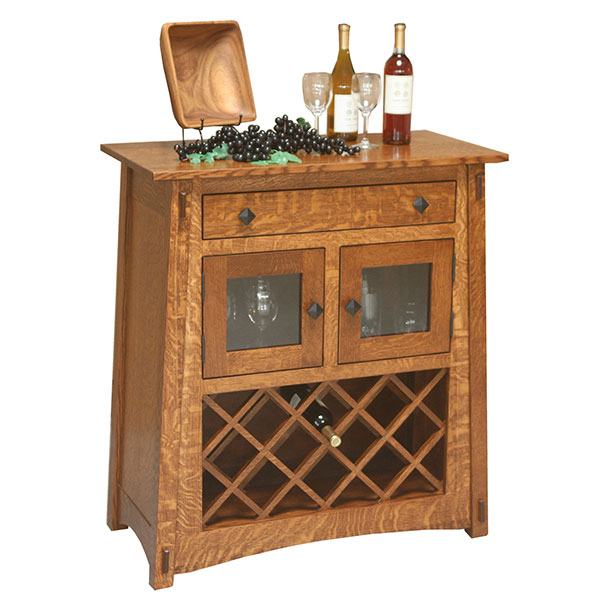 Amish Montana Wine Server | Amish Furniture | Shipshewana Furniture Co.