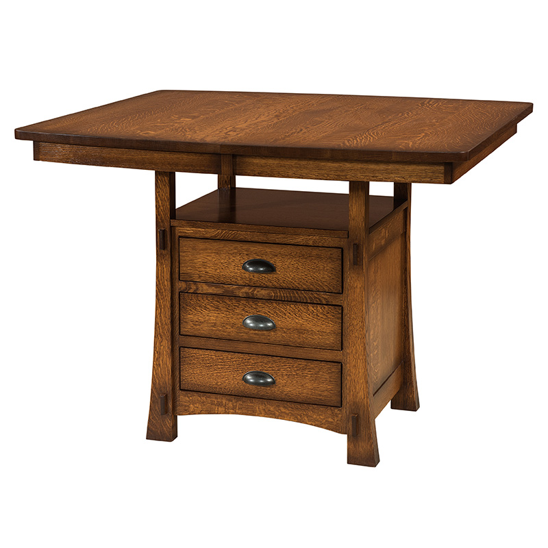 Miami Cabinet Table w-Butterfly Leaf