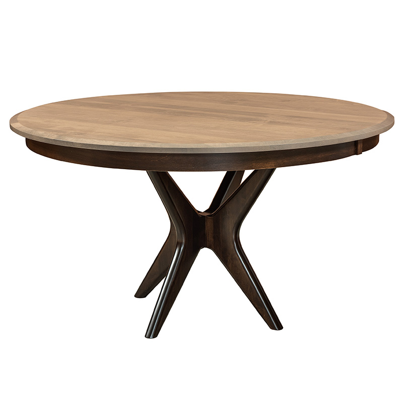 West Newton Pedestal Table - Wood Top