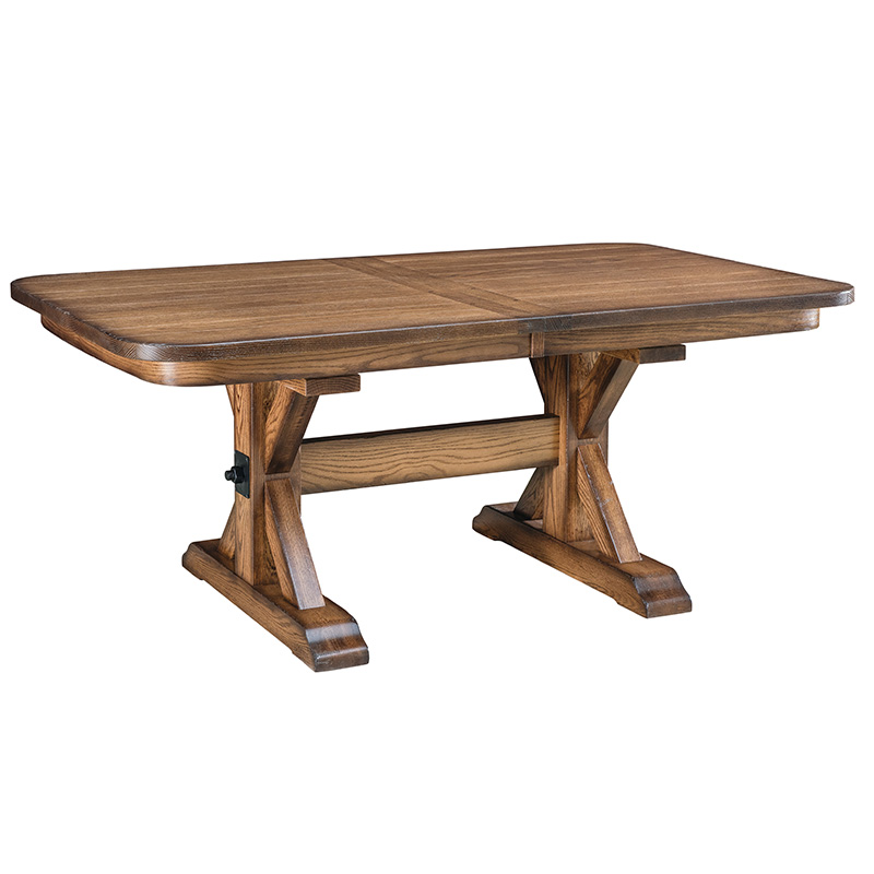 Round Table Alameda.Alameda Trestle Dining Table