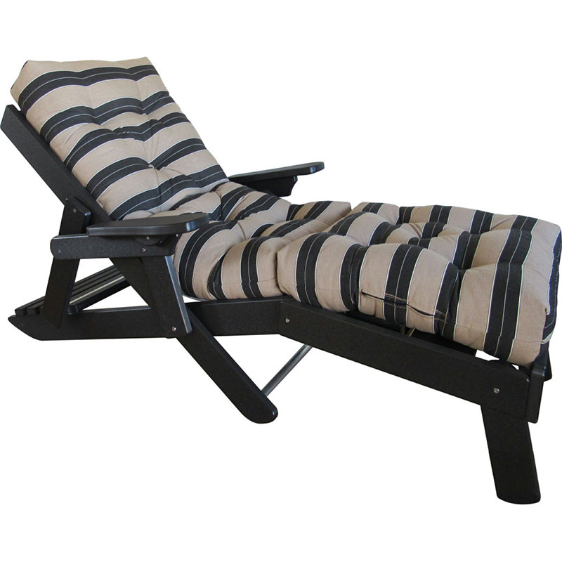 Siesta Folding Chaise Lounge w-Footrest