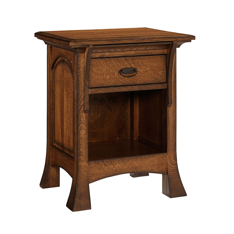 Breckenridge 1 Drawer Open Nightstand