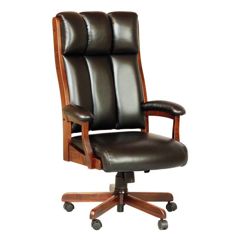 Amish Clark Executive Desk Chair | Amish Furniture | Shipshewana Furniture Co.