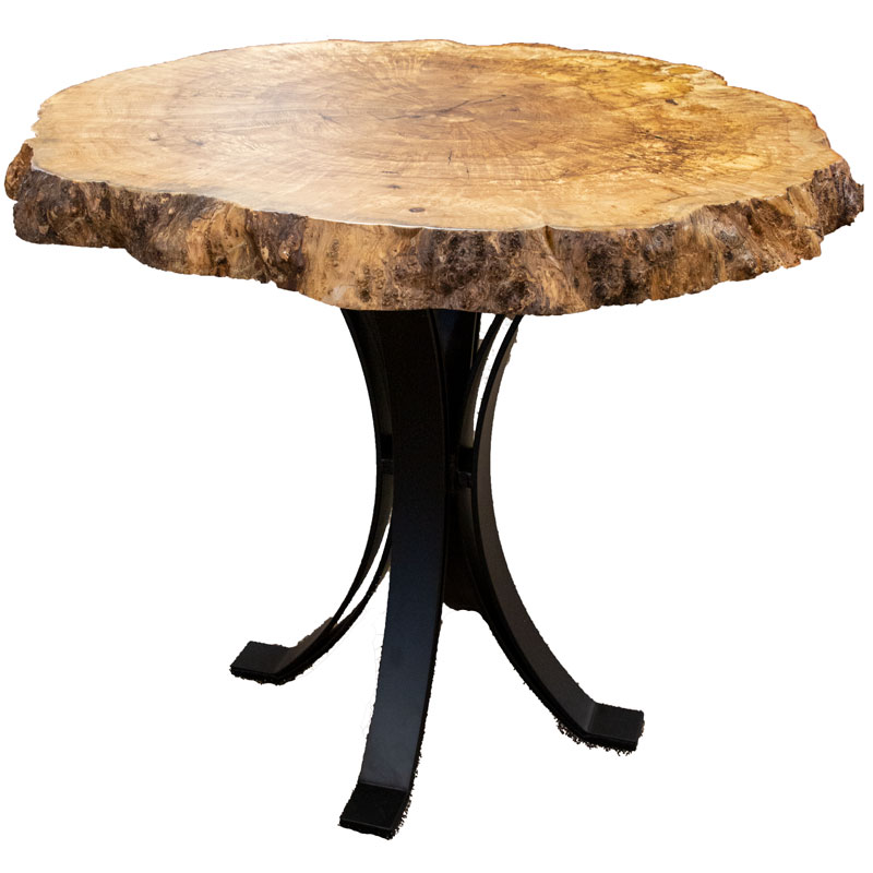 Hickory Burl Pub Table - Live Edge