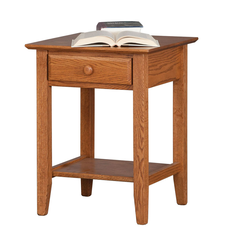 English Shaker 1 Drawer Open Nightstand