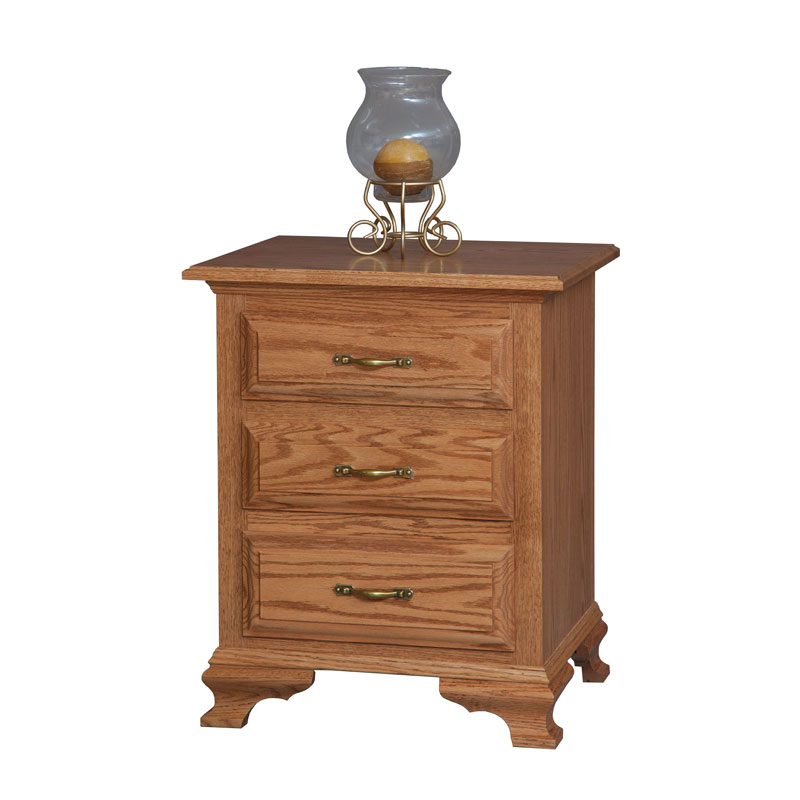 Crown Villa 3 Drawer Night Stand