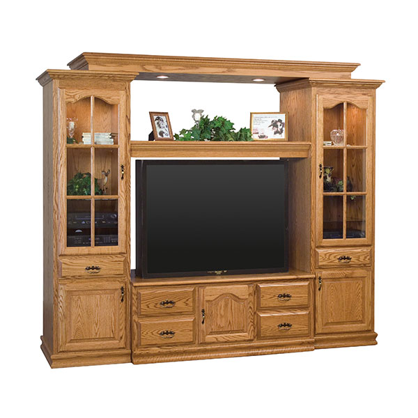Amish Heritage Wall Unit with Bridge | Amish Furniture | Shipshewana Furniture Co.
