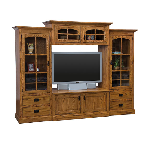 Amish Mission Wall Unit | Amish Furniture | Shipshewana Furniture Co.