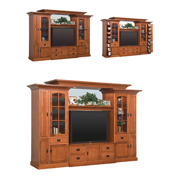 Amish Royal Mission Deluxe Wall Unit | Amish Furniture | Shipshewana Furniture Co.