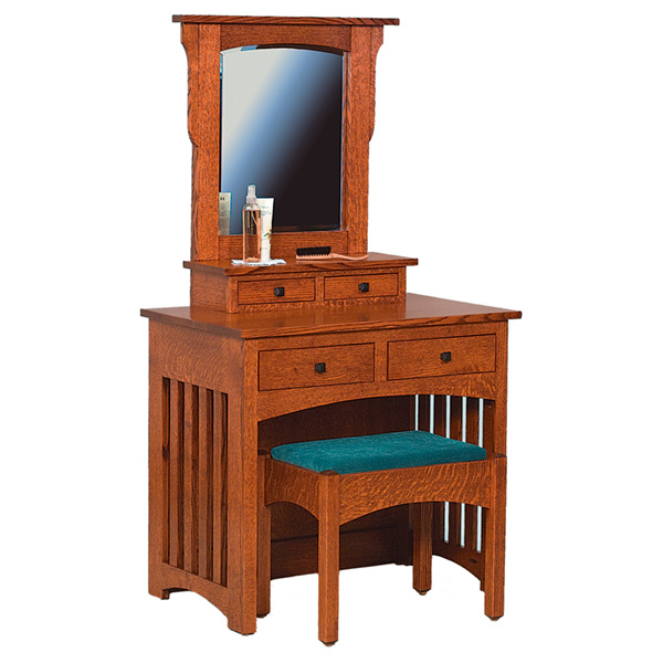 Schwartz Mission Dressing Table w/ Bench
