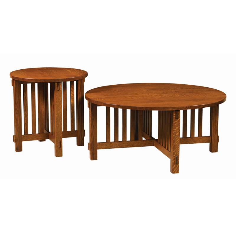 Mission Round Table.Rio Mission Round End Table