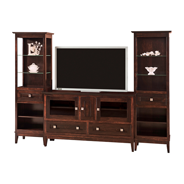 Amish Venice TV Console with Towers | Amish Furniture | Shipshewana Furniture Co.